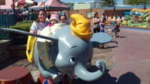 Dumbo ride at Disney
