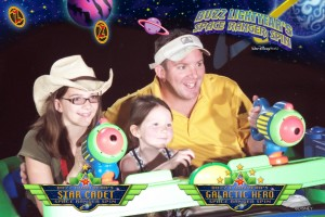 Buzz Lightyear ride at Disney