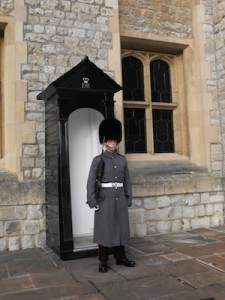 Standing guard at the Tower of London