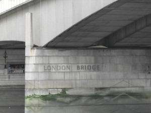 The current London Bridge (view as you go under it)