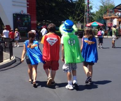 Super Heroes at Six Flags Over Georgia