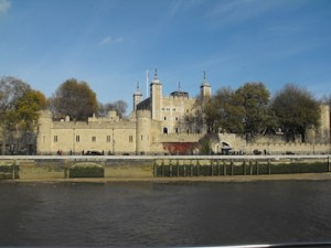 The Tower of London view from the water