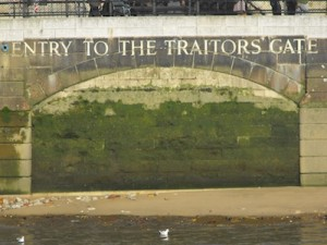 Entry to the Traitors' Gate, the way traitors used to be brought in for punishment at the Tower of London
