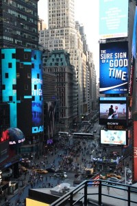 View of Time Square from the balcony of the Viacom Building