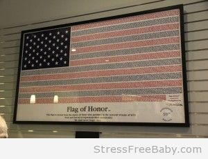 The Flag of Honor created with the names of the victims of 911.