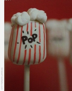 The cake pops my daughter chose to make.  This is the picture from the book.  Ours weren't as cute, but that was my fault for cooking the candy coating too long. Lesson learned.