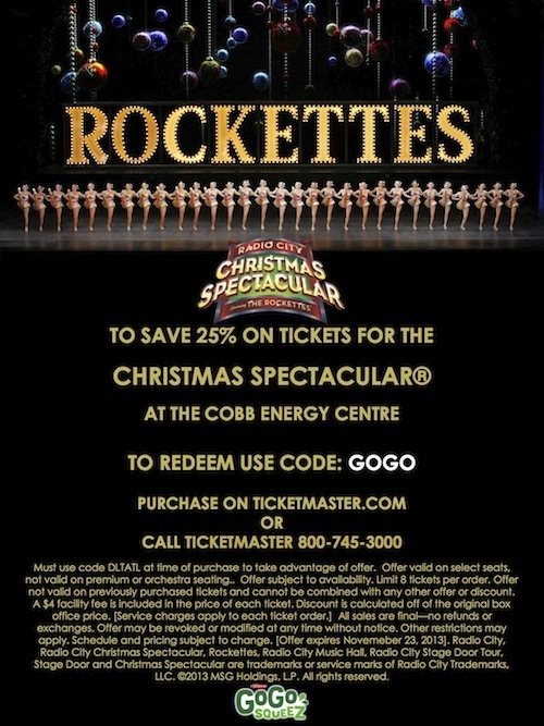 Christmas spectacular coupon code