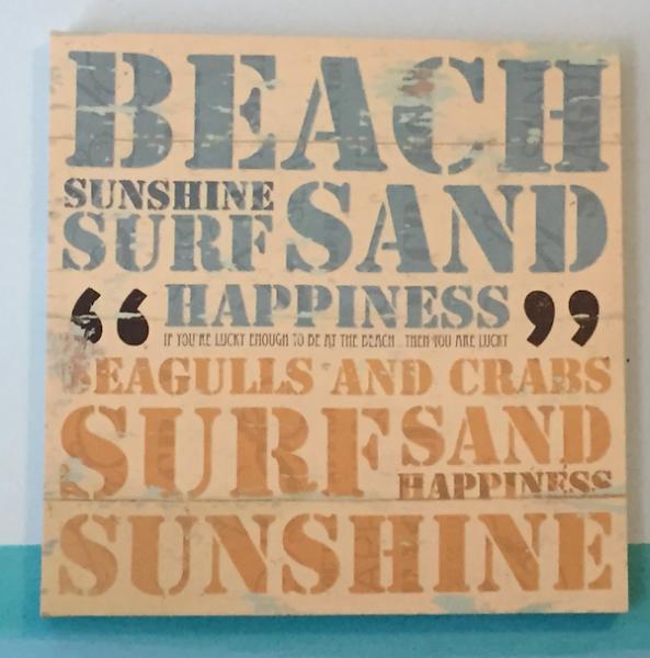 beach sand sign