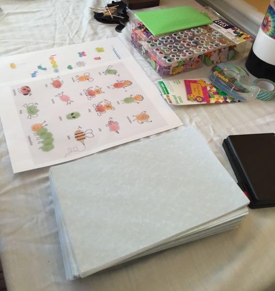 fingerprint art supplies