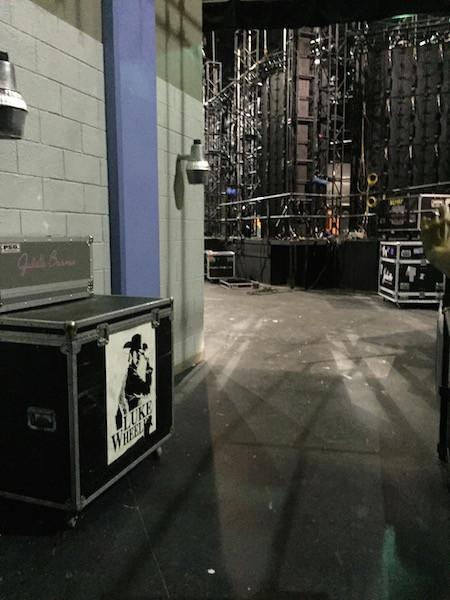 set backstage
