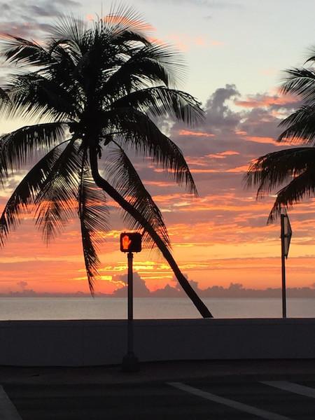 sunrise across street