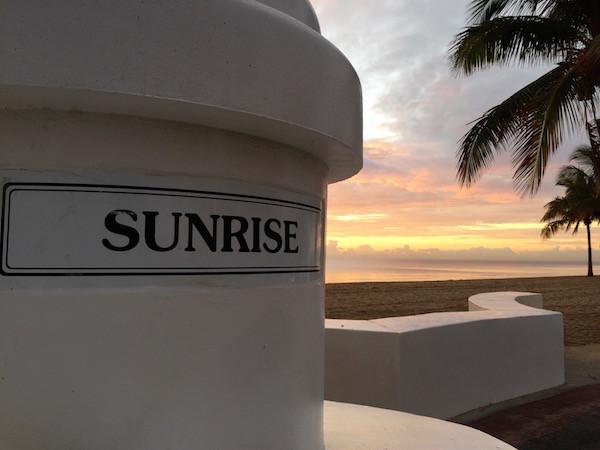 sunrise column
