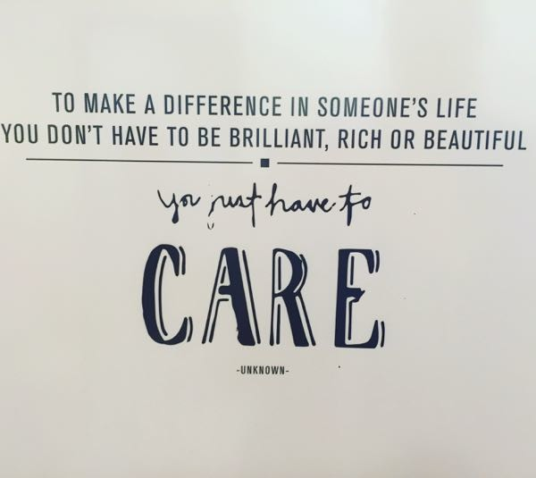 you just have to care