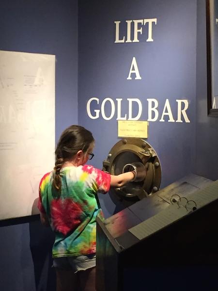 lift a gold bar
