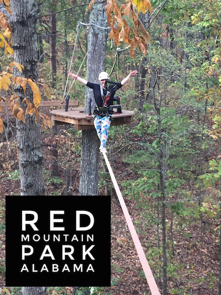 Red Mountain Park ropes course