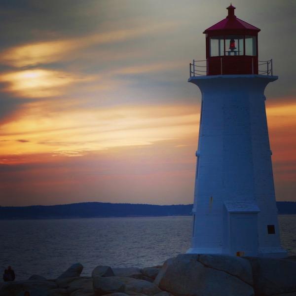Peggy's Cove lighthouse near Halifax, Nova Scotia.