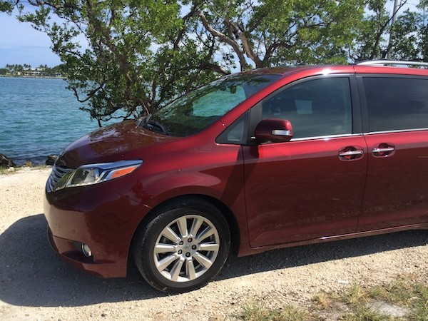 Toyota Sienna by the sea