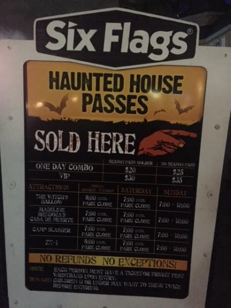 fright fest passes