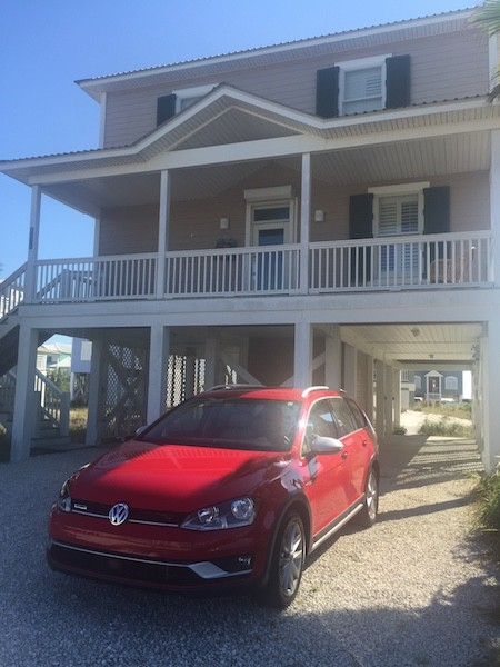 volkswagen at beach house