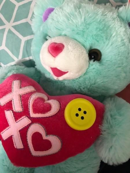 chappet button on bear