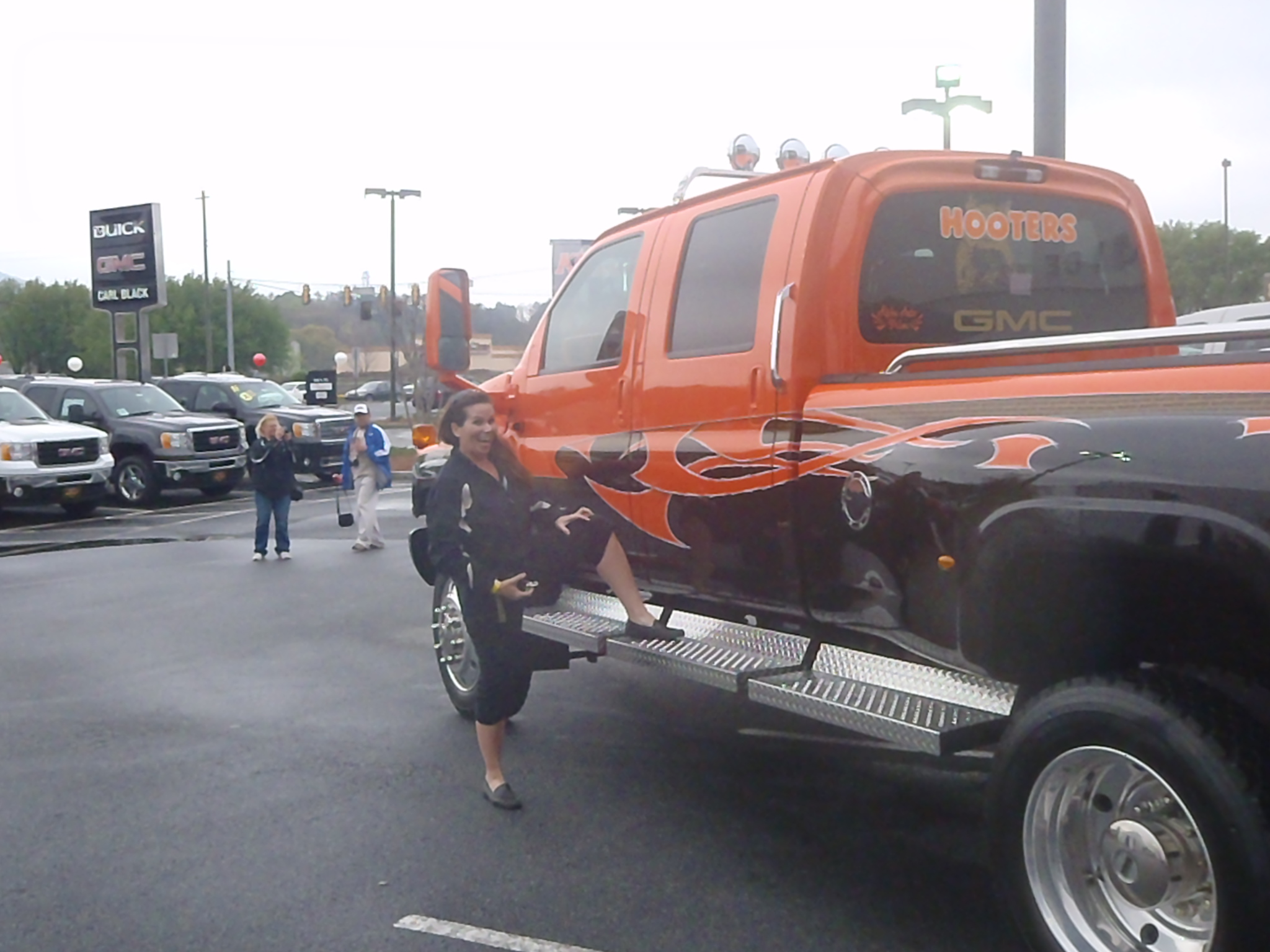 The GMC Hooters Truck Stress Free Baby